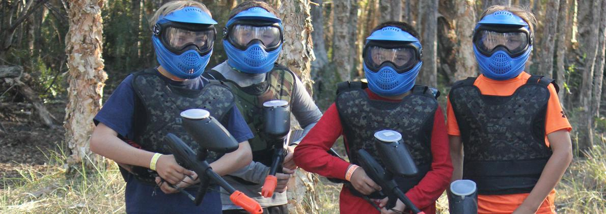 Paintball Players In The Woods at Extreme Rage Paintball Park of Fort Myers